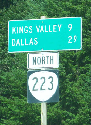 Kings Valley Oregon Sign