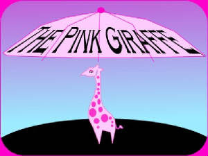 This is a pink giraffe